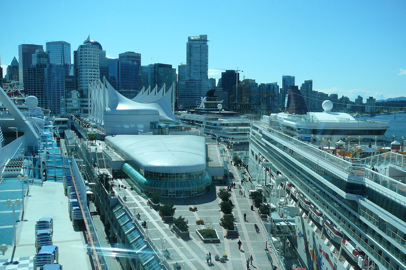 """There's what the view of Vancouver's Skyline and of all the ships in port that day looked like from """"Skywalkers""""."""