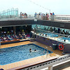 """There's the back of the Ship on the """"Lido"""" deck. Lot's of action back here 24 hours per day! A great place to swim, go for a Hot Tub, have a drink at the Bar, a burger at the Grill or a slice of Pizza at the 24 Hour Pizzeria."""