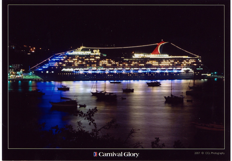 """There's the Carnival Glory, our """"Home"""" for the week while we sailed the Caribbean with our group."""