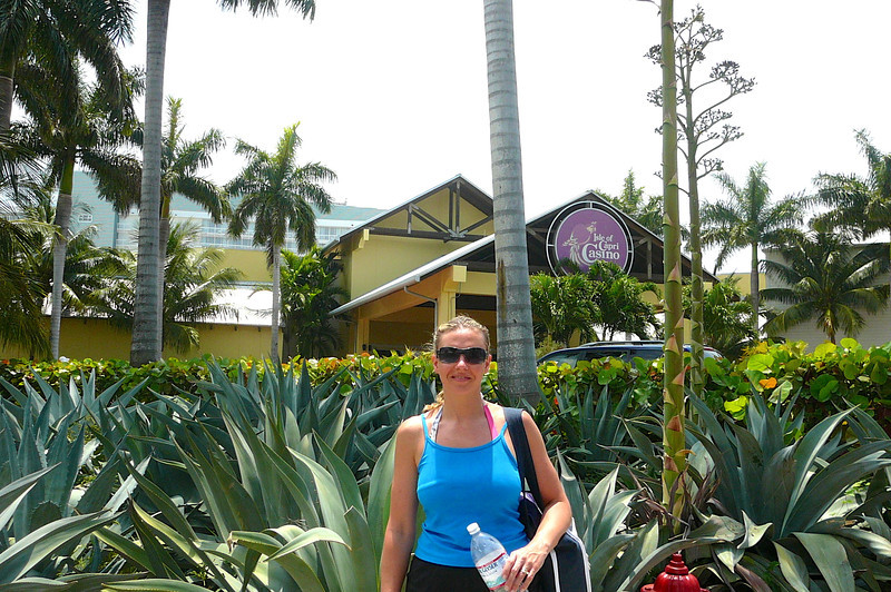 Here's Nancy at our final port stop in Freeport, Bahamas enjoying the absolutely Beautiful day we had while there!