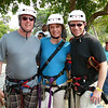 Ross & Miranda from our group joined us for our Ziplining Excursion... there's Shawn with the two of them getting ready to have some fun!! :-)