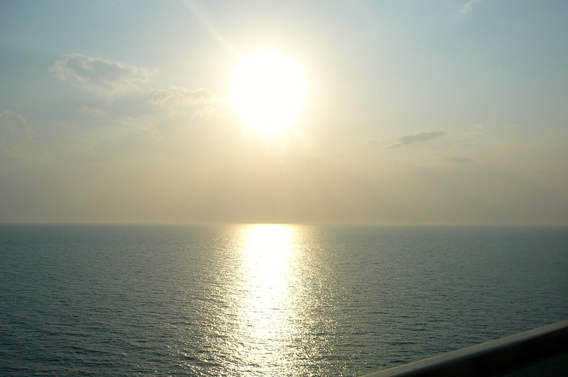 We saw some beautiful sunsets throughout the week from our Balcony Stateroom... if you've ever wondered was the extra cost worth it to get a Balcony, absolutely, the views are Amazing!!
