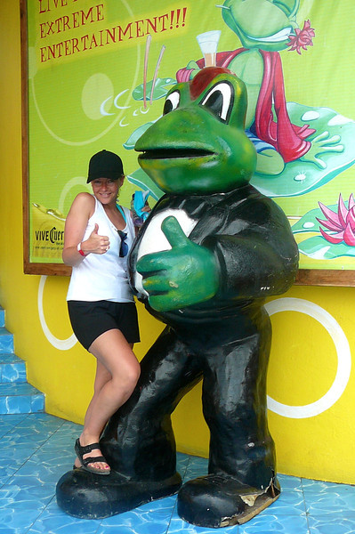 "For those of you who've been to Mexico you know where this Frog belongs... ""Senior Frogs""!! :-)"