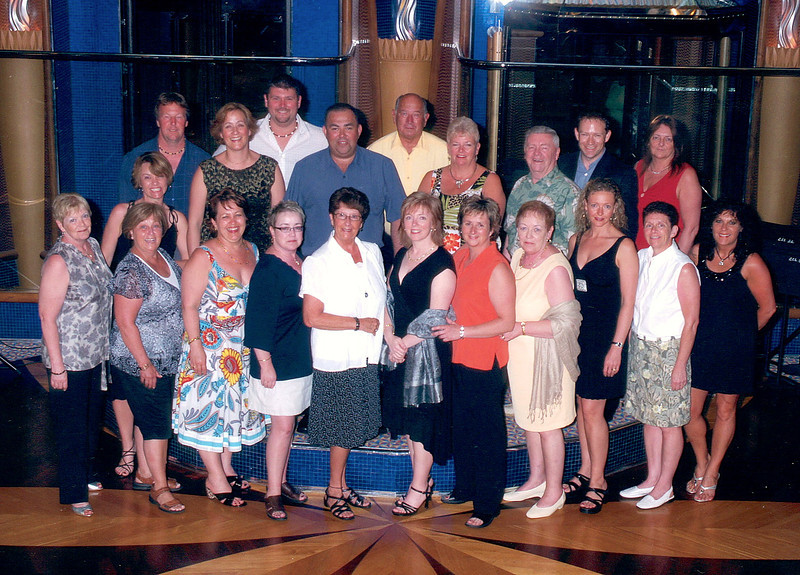 "Here's the whole gang... all 21 of us who were the members of Nancy & Shawn's 1st ever ""Group"" Cruise!! :-)"