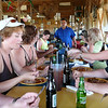 There's our tour guide, Val, at the head of the table making sure we're all having a great lunch. If you go tubing in Belize hopefully you have Val as your guide as he was really awesome!! :-)