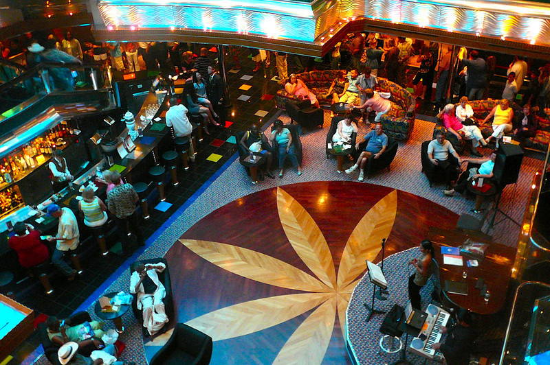 "There's the Lobby Bar at the bottom of the 11 Story Atrium on the ""Carnival Glory""... always an active place to have a drink, listen to some music, people watch, etc."