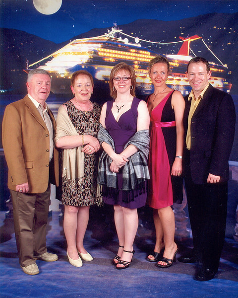 This was our 1st ever Cruise with Shawn's Mom, Dad & his sister Tanya so we had to get a nice pic to celebrate the occasion. :-)