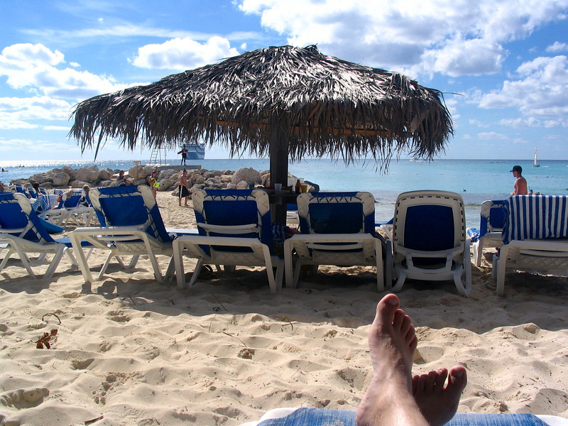 There's Shawn's big toe getting some rays in the Bahamas. :-)