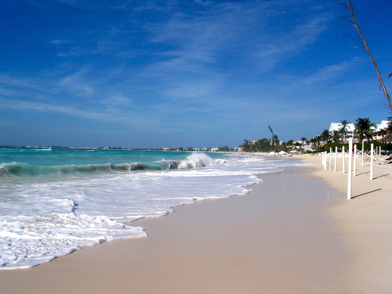 """There's """"Seven Mile Beach"""" in Grand Cayman... definitely a great place to enjoy sun, sand & surf!!"""