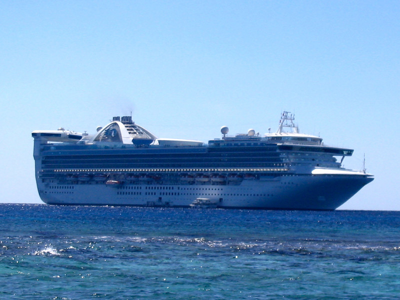 """There was our """"home"""" for the week as we sailed the Western Caribbean... the magnificent """"Star Princess""""."""