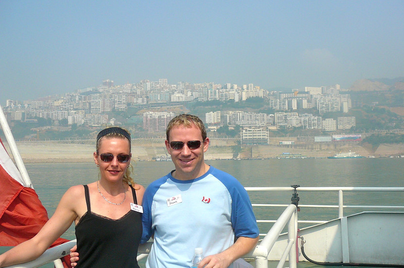 "The name of this City is gone over our heads but this is where we got off of our Ship and on to a smaller boat to explore the ""Lesser 3 Gorges""... definitely one of the major, major highlights of the ""Yangtze""!!  What a great morning that was!!"