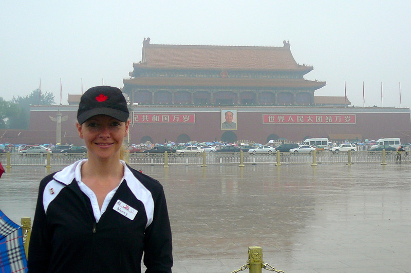 """Well, it took the last day of our tour to finally hit imperfect weather but how do you complain when you're in the middle of """"Tiananmen Square"""" about to enter the """"Forbidden City""""?"""