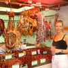 There's Nancy checking out authentic Chinese cuisine at a local Shanghai market... duck anyone? :-)