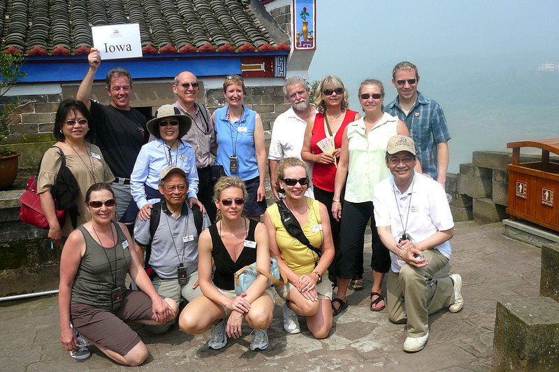 Here's a shot of those in our group who made it to the top of the Pagoda... a proud day for us all! :-)  The 11 story climb was definitely worth it though for the great views up there!!