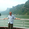 "There's Shawn taking in some of the gorgeous scenes as we sailed towards the famous ""Three Gorges Dam""."