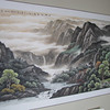 """Our stop at the Chonqing Zoo also included a tour of an Art Gallery there... they had some amazing, amazing works of Art and we couldn't help ourselves not to pick one up... here's a shot of our """"China treasure"""" that we brought home with us... a great Memory!!"""