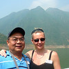 "There's Nancy and Nilo (one of our new Travel Friends who decided to ""Come Cruise with Us!"") enjoying spending some time together during our ""Lesser 3 Gorges"" Tour."