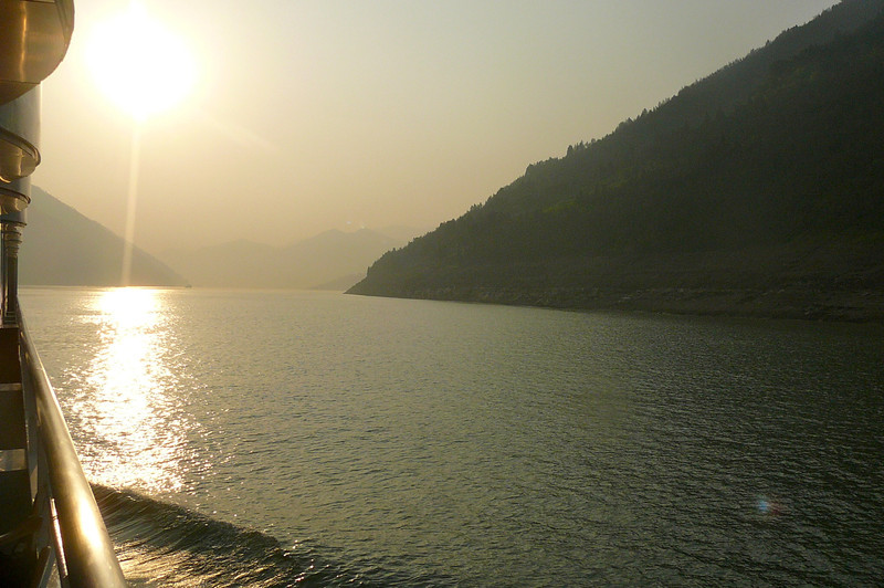 "Here's one more Gorgeous view from our Private Balcony to end an absolutely fabulous day Cruising the ""Yangtze River""!!"