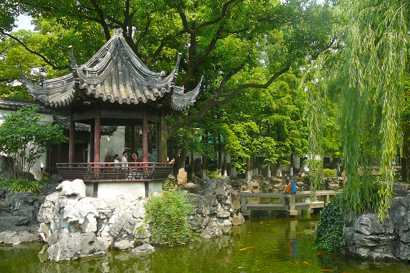 "Part of our tour included a visit to ""Yuyuan Gardens"" in Old Shanghai... a gorgeous, peaceful setting in the heart of the City."