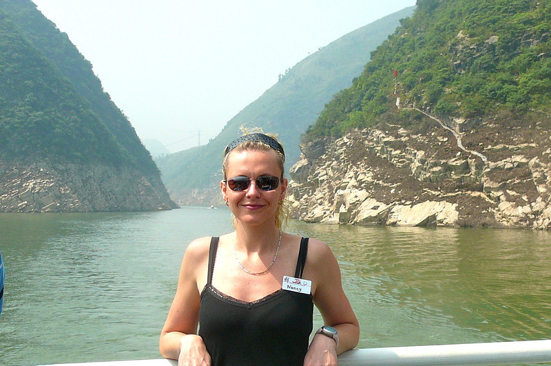 Looks like Nancy is loving the warm weather, the Beautiful Scenery and most of all, being in China!! :-)