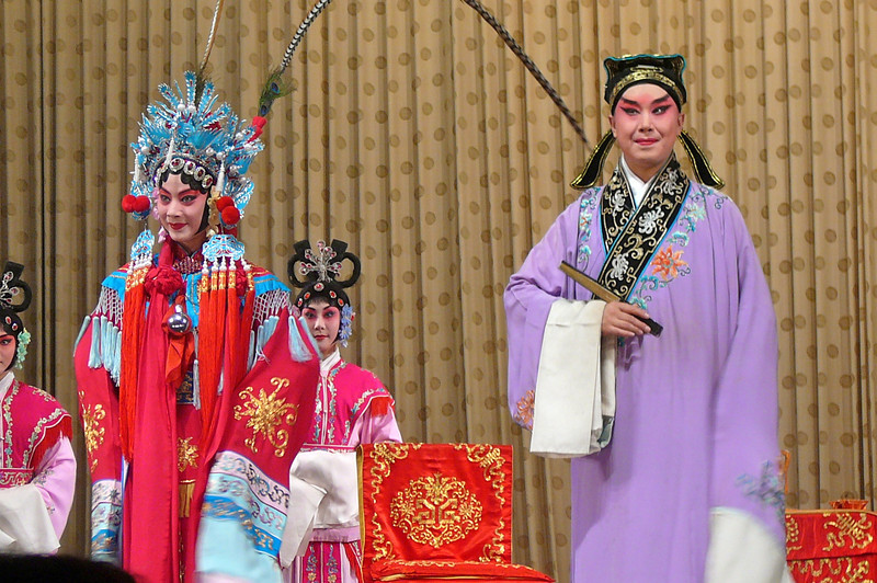 """A great way to finish our final night of our 11 Night """"Yangtze River"""" Cruise Tour... we were entertained by the Famous Beijing """"Peking Opera""""!!"""