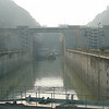 "There's a shot of 1 of the 5 ""Locks"" we'll be transiting through tonight to get through the Dam."
