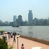 "There's a shot of the famous Shanghai ""Bund"" area across the river... this was taken from the modern ""Pudong"" side of Shanghai."