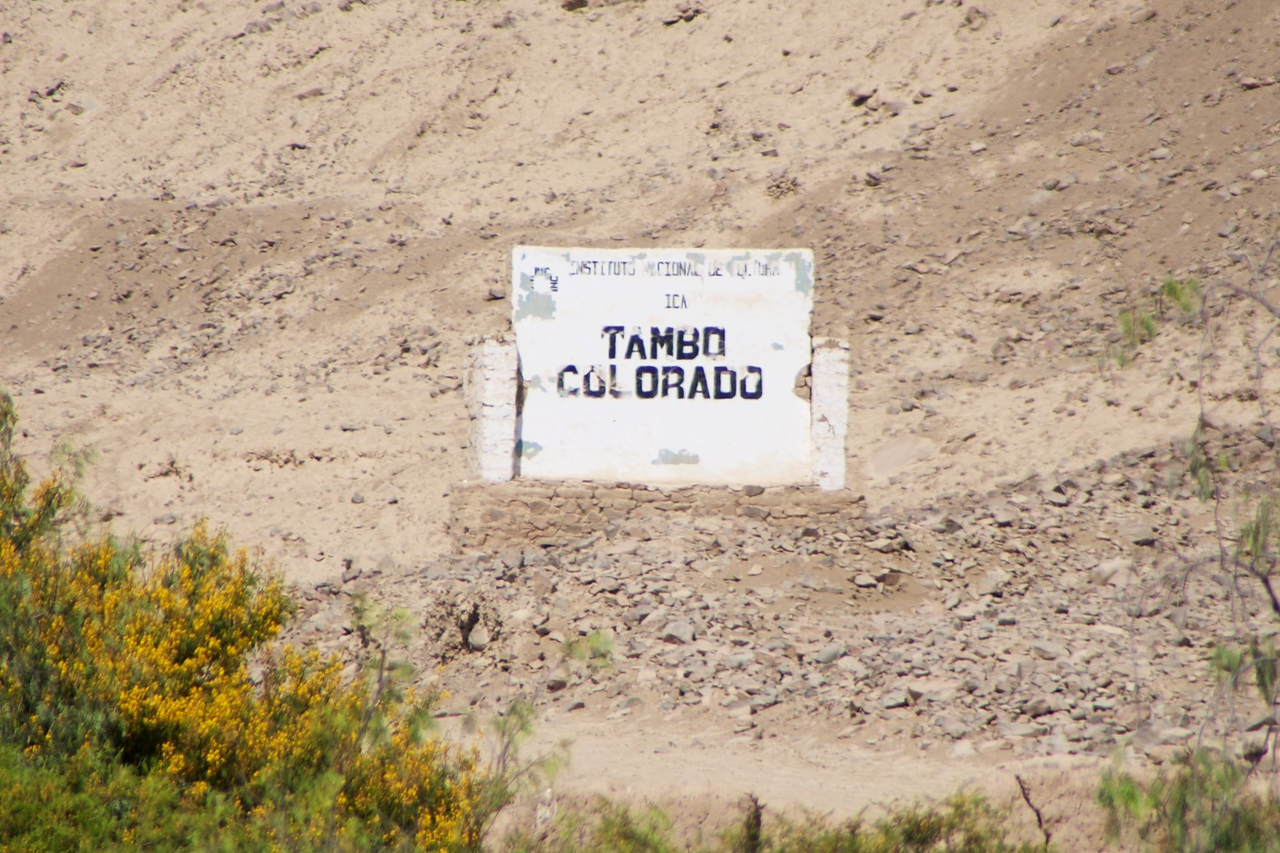 Tambo Colorado    an Inca settlement built with coastal architectural features and materials  Built during the Tupac Yupanqui in the last quarter of the 15th centurey to control the local populations as well as the Coast to Highland movements
