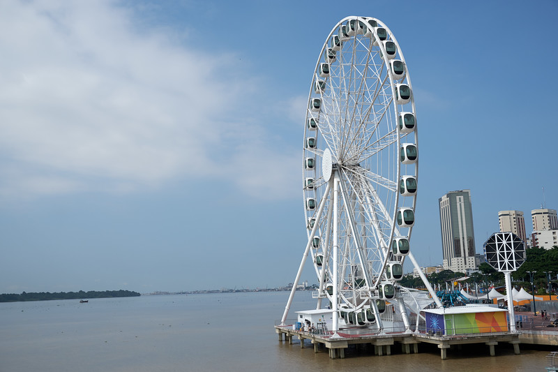 The ferris wheel is know as The Pearl of Guayaquil. It is the largest ferris wheel in South America.