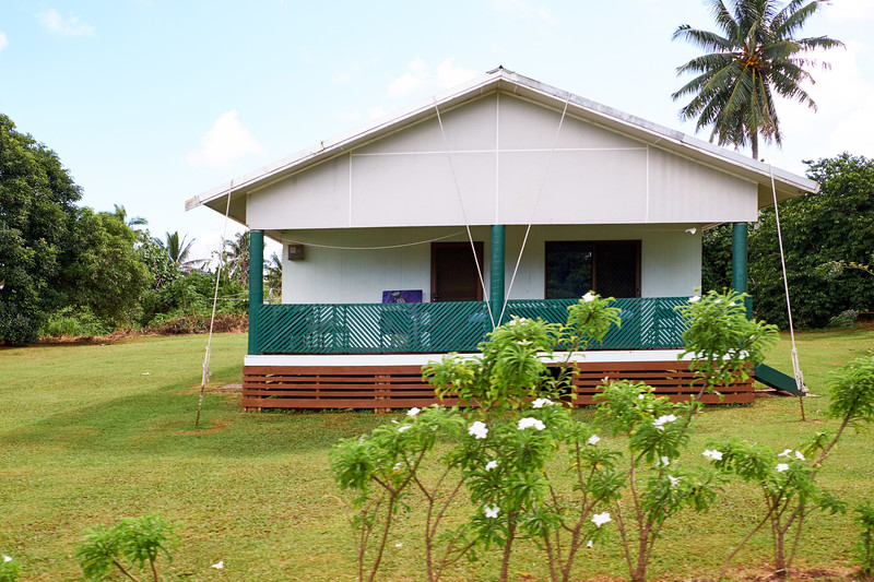 During cyclone season house are tied down for protection.