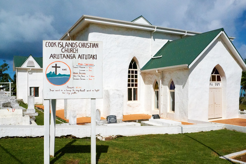 Aitutaki was the first of the Cook Islands to be converted to Christianity in 1821. The Arutanga Church is the oldest church in the Cook Islands.