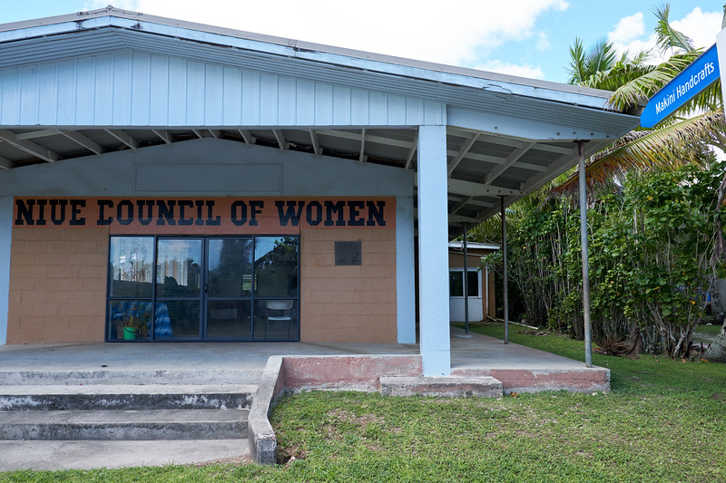 The main weaving center for Niuean women is Makini Hall.