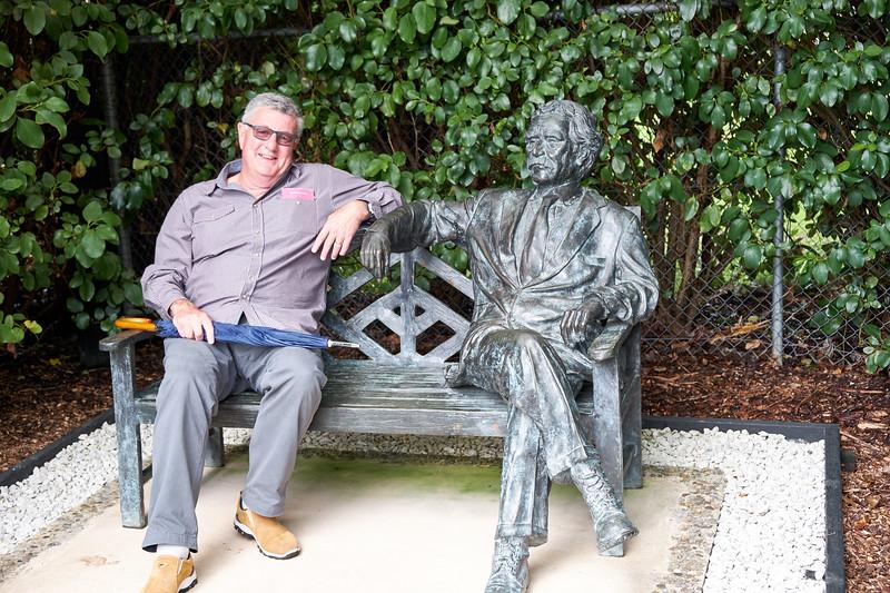 Kevin and Mark Twain.