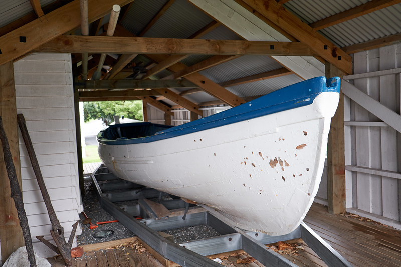 This Whaleboat design is in line with American whaleboats built in the late 1800s. As whaling declined, it was used as a utility ferry. In 1910 a motor was added and it became a school bus ferrying children to Opua School.