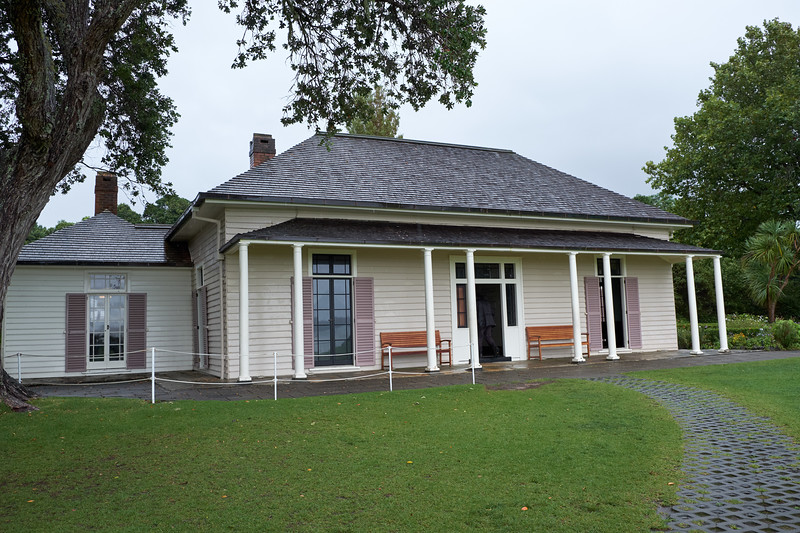 The Treaty house at Waitangi is the former house of James Busby. It is one of New Zealand's oldest surviving buildings.
