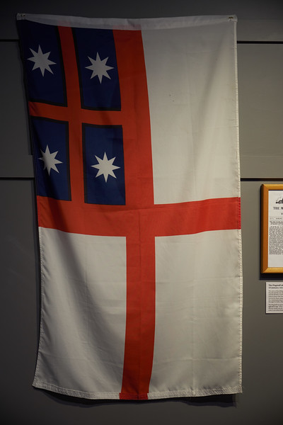 The first internationally recongized flag of New Zealand. It is the Flag of the United Tribes.