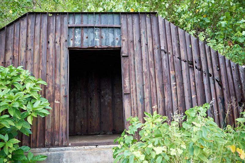 Ammunitions storage bunker.