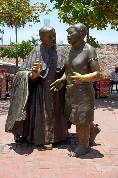 San Pedro Claver a human rights pioneer who dedicated his life to making the lives of the African slaves easier.