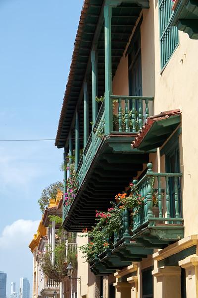 Original wooden balconies.