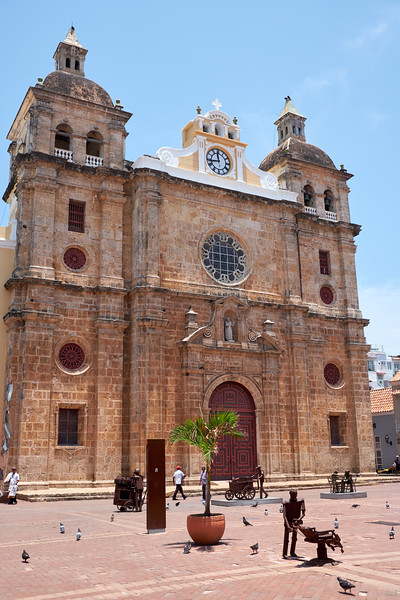 Exterior of San Pedro Claver Cathedral.