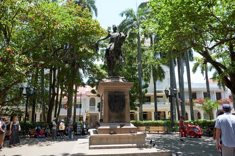 imon Bolivar Square. Simon Bolivar was the liberator of Columbia from Spain.