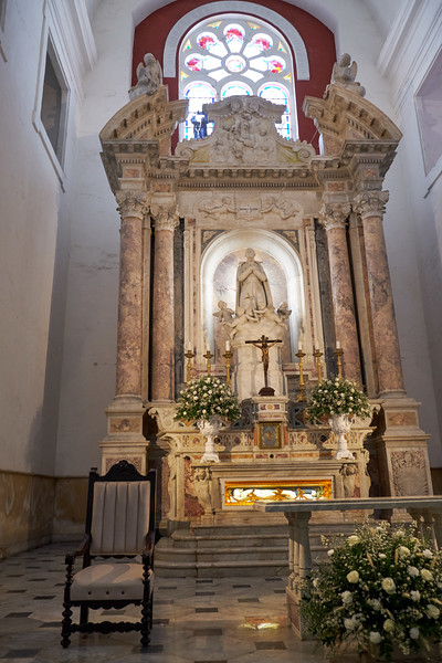 Alabaster marble altar of San Pedro Claver Cathedral.