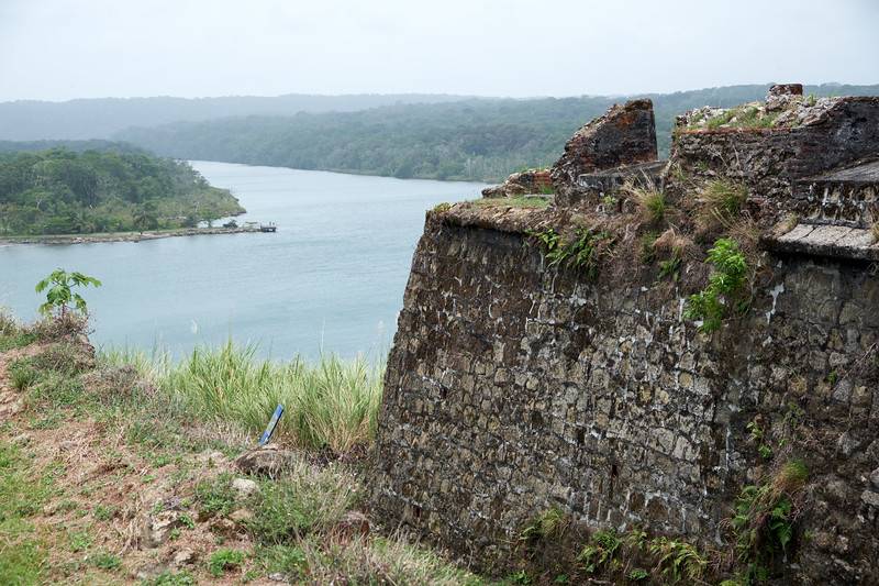 The Spanish forts in the Caribbean were built to protect the trade routes connecting South America and Spain through the isthus of Panama.