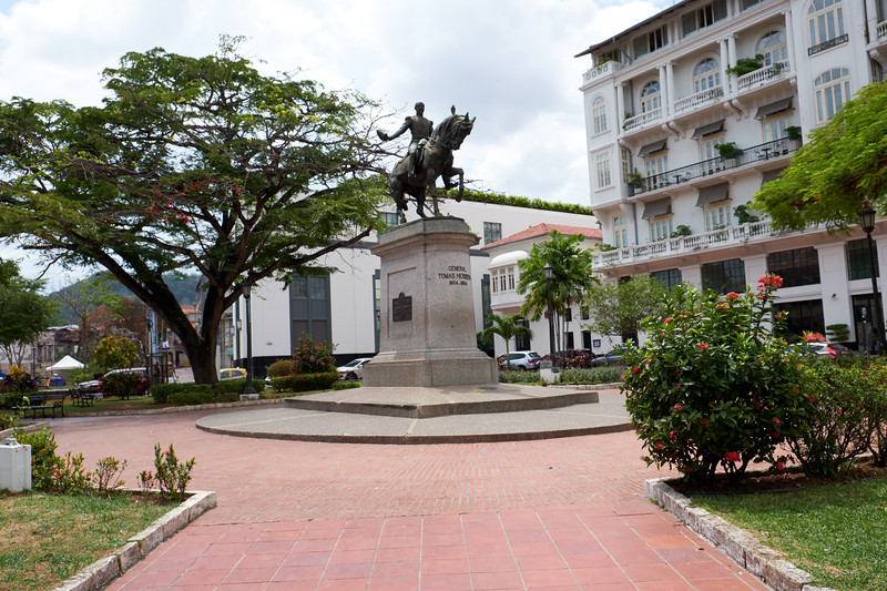 In colonial times this area was a bullfighting ring. Today it is at the edge of Casco Viejo or the historic district of Panama City.