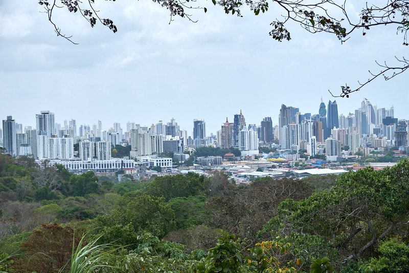 Panama City from the viewpoint at the top of Municipal Park. This is the second highest point in Panama City.