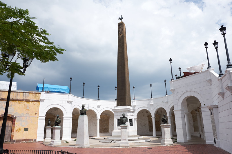 Memorial pays tribute to the failed French effort to build a canal in the Panamanian isthmus during the 19th century.
