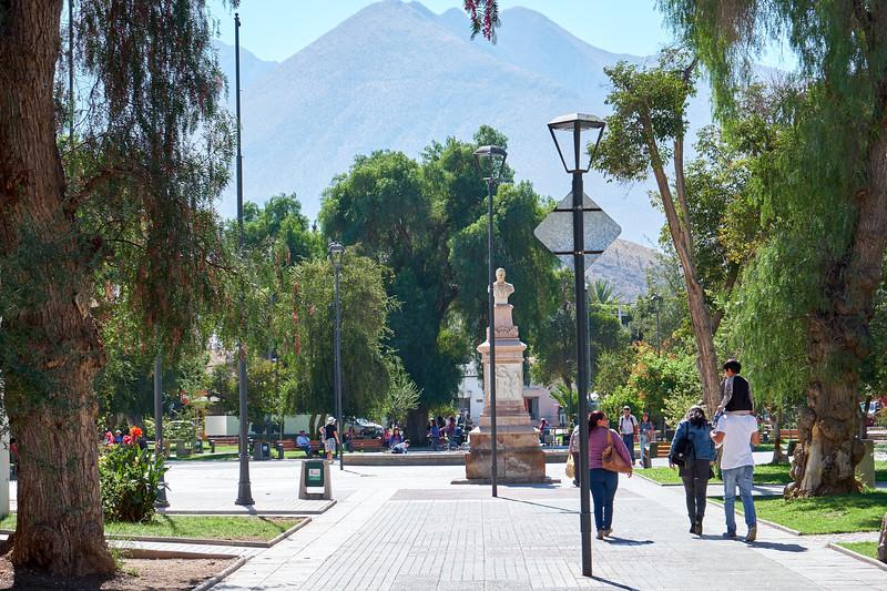 Plaza Gabriela Mistral in Vicuna.