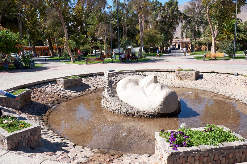 Gabriela Mistral fountain. Gabriela Mistral was the most famous women poet in Chile. She won a Nobel Peace Prize for Literature in 1945.