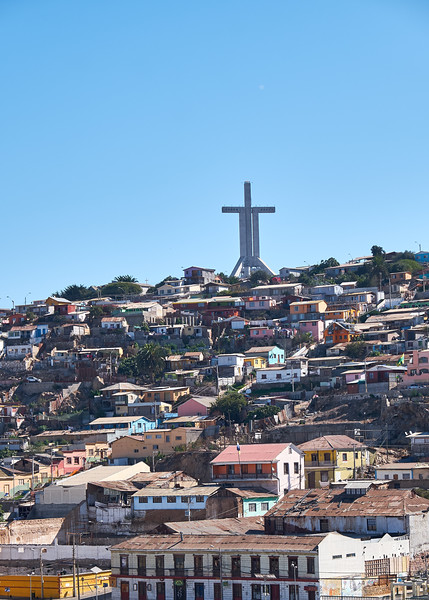 The Millennium Cross which is the most important architecture feature of Coquimbo City.
