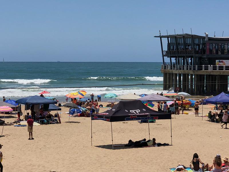 Durban Beach with Pier.